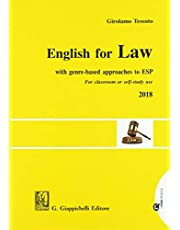 English for law. With genre-based approaches to ESP. For classroom or self-study use 2018 [Lingua inglese]