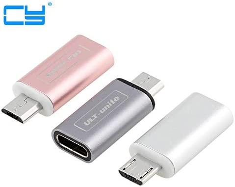 Cable Length: Other, Color: Grey Cables 1PCS Occus Quality Rose Gold Metal USB 3.1 Type C USB-C Female to Micro USB 2.0 Male Adapter Connector Adaptor