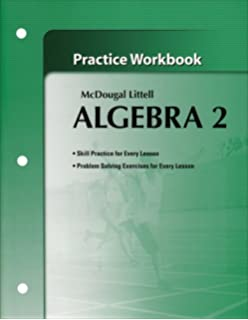 Amazon mcdougal littell algebra 2 applications equations algebra 2 practice workbook mcdougal littell fandeluxe Image collections