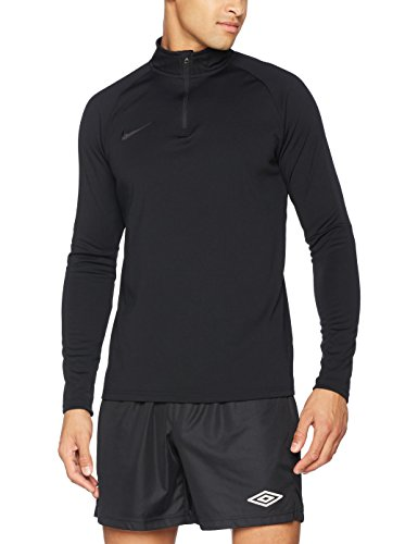 NIKE Men's Dry Academy Drill Soccer Top 1/4 Zip Jacket (L, Black/Black)