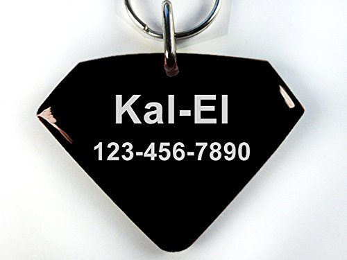 Picture of Pet Tags Superman Custom Dog ID cat Personalized with Your pet info (Small 1.5
