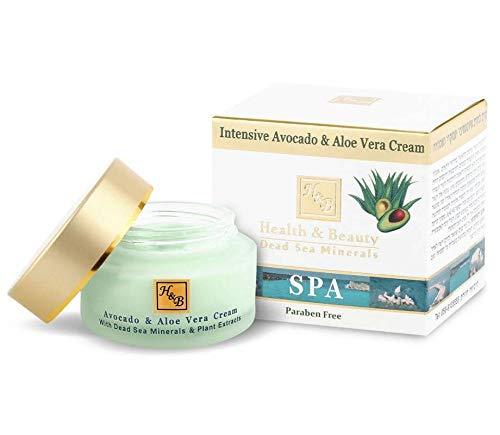 Intensive Avocado Aloe Vera Nourishing Face Cream Moisturizer for Women - 50ml by Health & Beauty Dead Sea Minerals