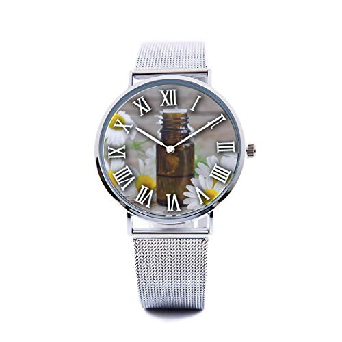 - Unisex Fashion Watch German City Free Travel Romantic Color Print Dial Quartz Stainless Steel Wrist Watch with Steel Strap Watchband for Men Women 40mm Casual Watch