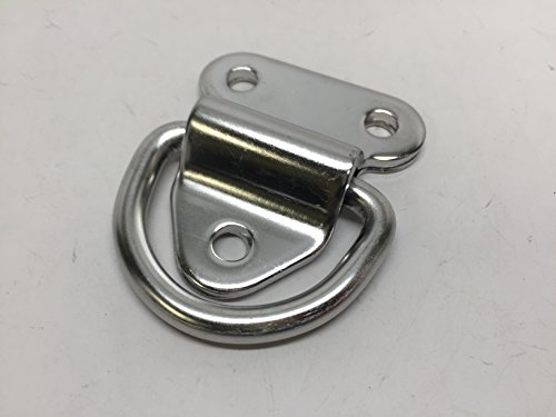 MARINE BOAT STAINLESS STEEL 304 HINGED PAD EYES D-RING 2.2''(L) X 1.9''(W) 3 HOLES by Pactrade Marine