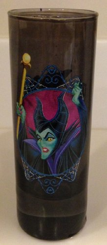 Disney Parks Sleeping Beauty Maleficent Glass Toothpick Holder NEW