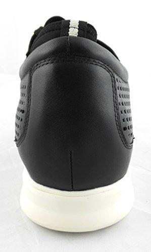 ZERIMAR Zapatos deportivos con alzas interiores de 6 Cm ¡OFERTA ESPECIAL 75 ANIVERSARIO! Fabricados en piel de alta calidad 100% piel Color negro negro