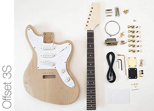 DIY Electric Guitar Kit ? Offset 3 Single Coil Build Your Own Guitar Kit