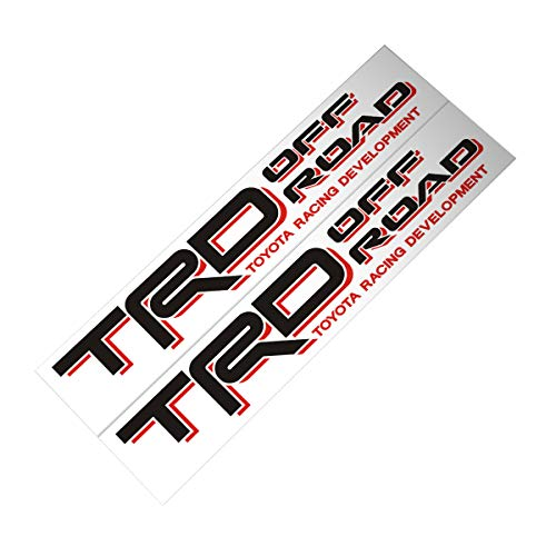 Demupai TRD Off Road Decal Vinyl Car Stickers for Toyota Land Cruiser/Tundra / Prado (Black + Red)