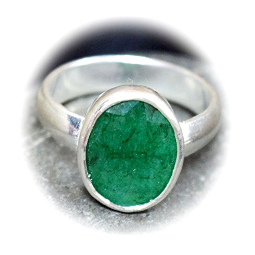 - CHOOSE YOUR COLOR Natural Gemstone Chakra Healing Ring Sterling Silver 5 Carat Handmade Jewelry Size 5-13