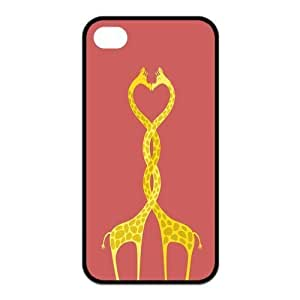 the Case Shop- Customizable Giraffe iPhone 4 and iPhone 4S TPU Rubber Hard Back Case Cover Skin , i4xq-444