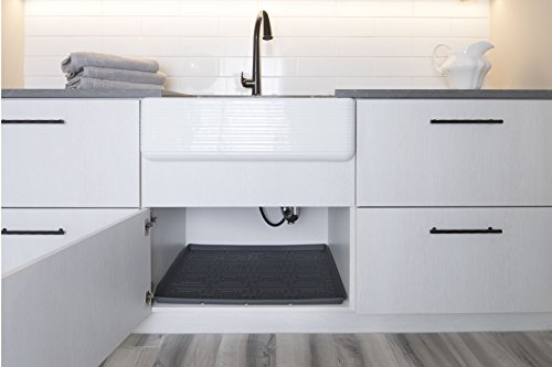 Xtreme Mats Under Sink Bathroom Cabinet Mat, 33 5/8 x 18 7/8, Grey