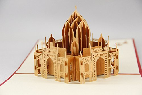3D Pop Up Cards Creative Paper craft Greeting Cards for Birthday Thank You Sorry Wedding Anniversary Graduation Get Well Gift Greeting Cards for Every Occasion (The Taj Mahal)