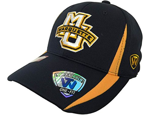 Top of the World Marquette Golden Eagles Tow Navy Triumph Performance Flexfit Structured Hat Cap
