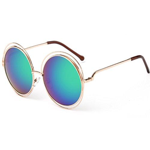 6 Gafas de Sol Redondas UV Sol ZYXCC Mujer Protección Gafas YANJING Unisex 9 Color Sol de para Gafas de para Uwqnxv0d