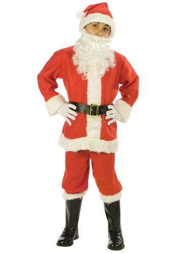 Fun World Costumes Baby Boy's Child Promotional Santa Suit, Red/White, (Santa Claus Kids Costumes)