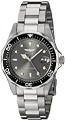 Invicta Men's ILE8932ASYB Pro Diver Analog Display Japanese Quartz Silver Watch