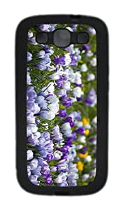 case luxury cases crocuses field TPU Black case/cover for Samsung Galaxy S3 I9300