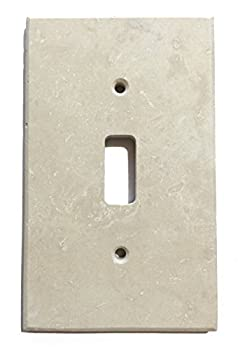 Ivory Light Travertine Switch Plate Cover (SINGLE TOGGLE)