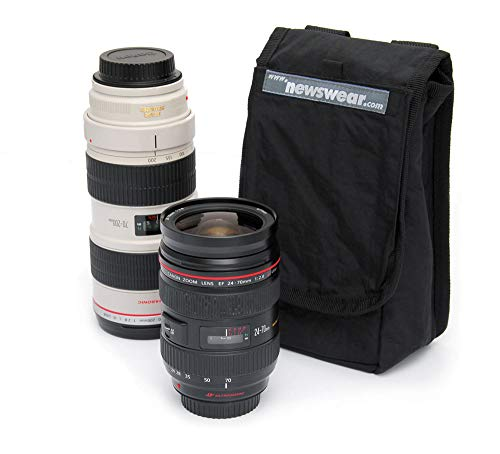 Black. Newswear Small Press Pouch Padded 7 Wide Angle Prime /& Zoom Lens Carry Pouch