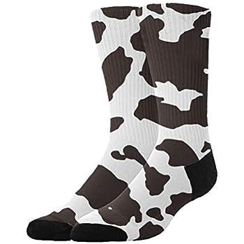 b443476931a85f Jinkela Womens Thigh High Cotton Socks Cow Spot Tube Stockings Above Knee  Cosplay Socks