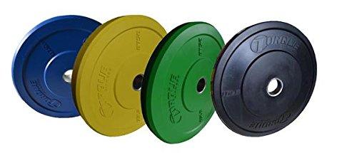 Torque Fitness Colored Bumper Plate 230 lb. Set