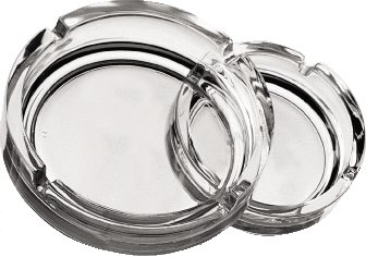 1x12 Large Clear Stackable Ashtray 5.75 Pack Size 14.4cm