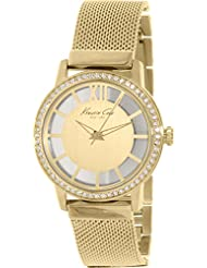 Kenneth Cole New York Womens KC4956 Transparency Yellow Gold Dial Stones Detail Watch