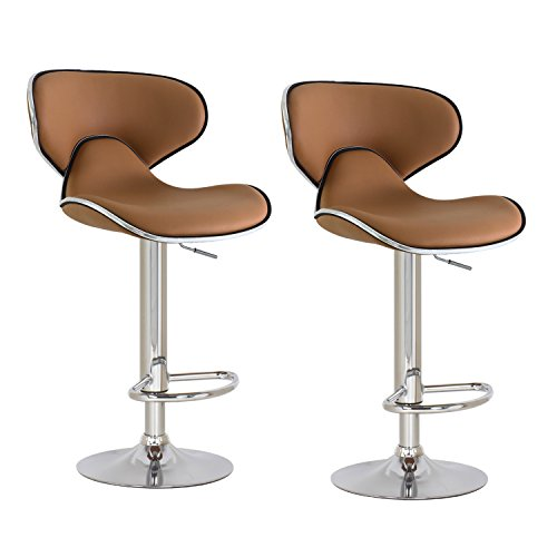 Adjustable Bar Height High Chair Barstools Kitchen Counter Swivel Stool Set Of 2
