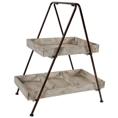 A&B Home Jardin Two Tiered Shelf, 21.7 X 14 X 26.2-Inch by A&B Home (Image #1)