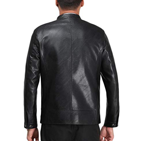 M Moto Uomo Autunno Dimensioni Zjexjj Primavera E Da Uomo colore Giacca Di Pelle Black Mezza 3 Casual In Età qCxxpOUE