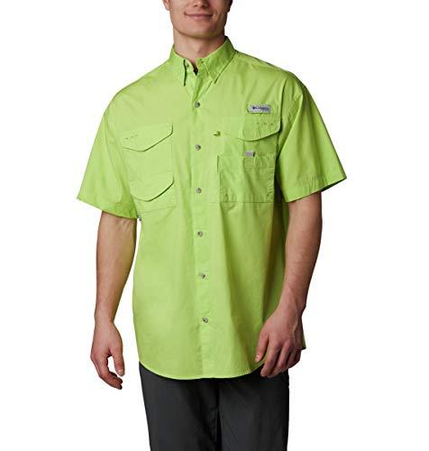 Green Glow 5 (Columbia Men's Bonehead Short Sleeve Shirt, Green Glow,)