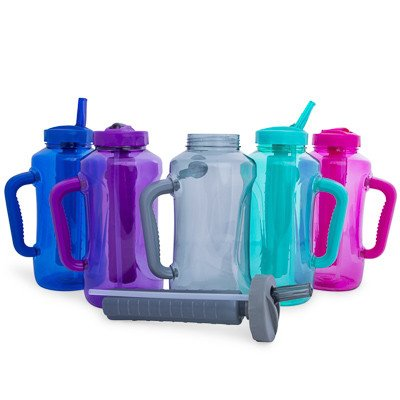 Cool Gear Big Swig EZ-Freeze Hydrate 64oz Water Bottle BPA Free with Twist and Lock Feature (Teal or Blue)(Teal) by Cool Gear