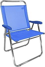 Cadeira Alumínio King Azul 140 KG Zaka Super Resistente