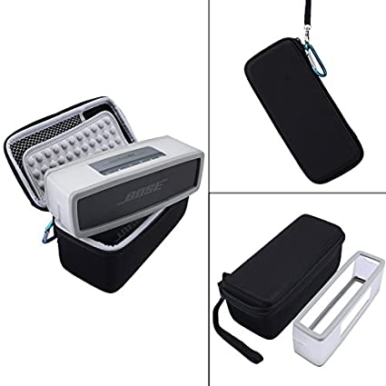 Hard Travel Bag Carrying Case with Soft Cover for Bose Soundlink Mini I and Mini II Bluetooth Speaker - Fits The Charger Cable Esimen NC-1013