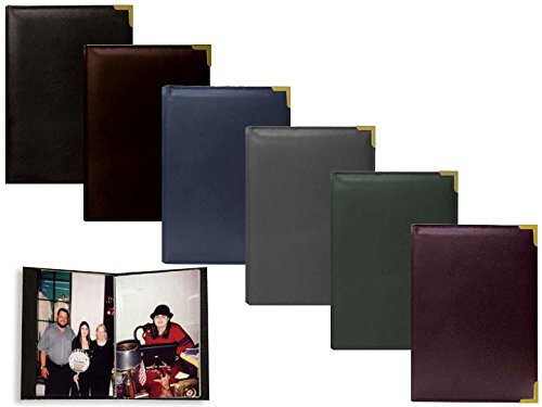 Pioneer Mini Oxford Bound Photo Album, Solid Color Sewn Leatherette Covers with Brass Accent Corners, Holds 24 4x6