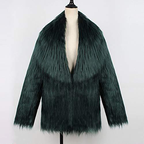 Unie Chaud en Parka Fausse Couleur Femme Revers Grand Vert Veste d'hiver Fourrure Bringbring Manteau qFdwtaxR