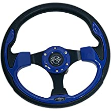Buggies Unlimited Blue Sport Golf Cart Steering Wheel