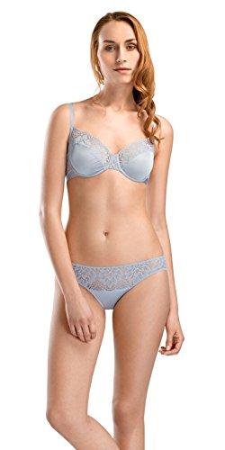 HANRO Women's Luna Underwire Bra Bra, Muted Blue, 34D
