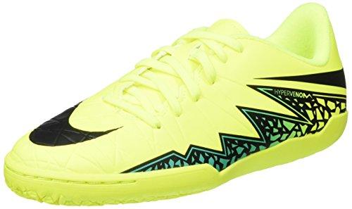 Nike Unisex-Kinder Jr Hypervenomx Phelon Ii Ic Fußballschuhe, Amarillo (Volt / Black-Hyper Turq-Clr Jade), 35