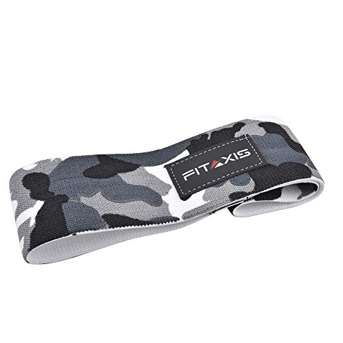 FITAXIS Hip Bands Circle - Heavy Duty with for Non Slip Rubber,Glute,Thights,Boottie Traning, Deadlift,Weightlifting,Youga Perfect for Men's & Women's (CAMO Gary, M-28) ()