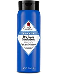 JACK BLACK Dry Down Friction-Free Powder Performance Remedy, Sports Therapy Skincare, Talc-Free Formula, Absorbs Moisture, Protection from Friction, Chafe-Free Workouts, 6 oz