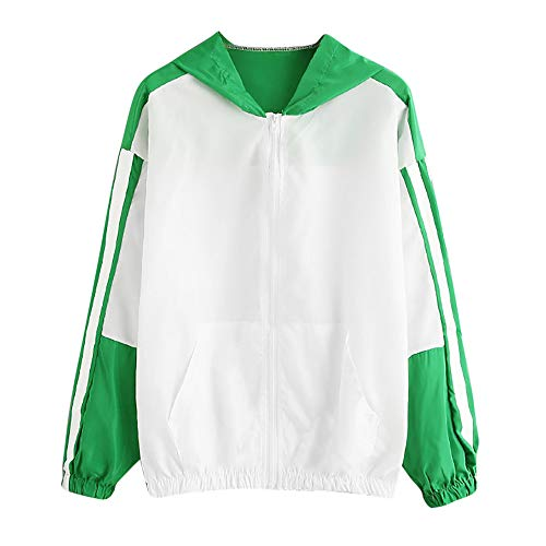 Clearance Women Patchwork Skinsuits, Duseedik Ladies Long Sleeve Thin Hooded Zipper Pockets Sport Coat - Burberrys Mandarin Body Lotion