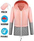 SunBoss Windbreaker Jacket Women Hood Rain Proof Pouch Foldable Casual Summer Outerwear