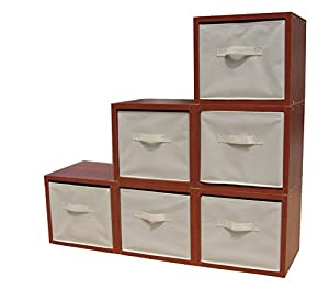 Charmant Fixture Displays Cubby Hole Storage Bin Modular Wood Blocks With Fabric Bins  6/Set 11364 11364!