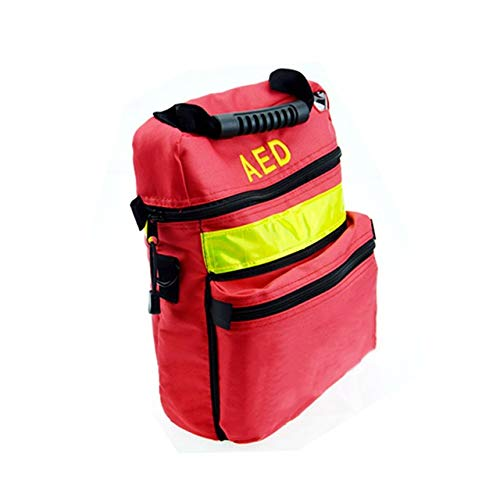 Jipemtra First Aid Bag AED Medical Bag 1st Aid Bag Empty Rescue Defibrillator Bag First Responder Bag for Emergency Critical Healthcare Protection Bag Only