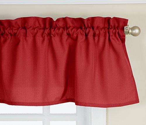 Lorraine Home Fashions Ribcord Valance, 54-Inch x 12-Inch, Wine