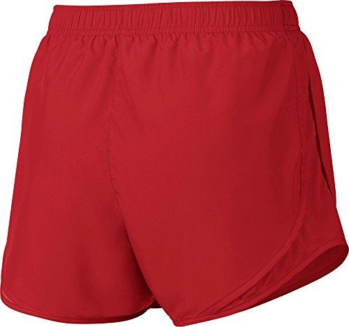 Nike Kvinna Fukttransporterande Colorblock Shorts Röda