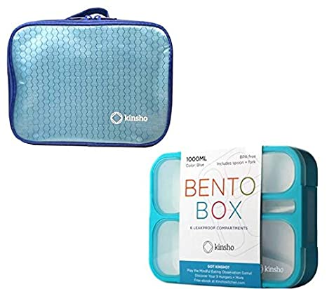 8167104d6b01 Bento Lunch-box Set with Insulated Bag. Bentobox Containers for Kids,  Women. 6 Compartments, Leakproof for School. Meal Prep Portion Container  Boxes. ...