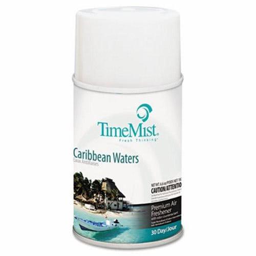 TimeMist 1042756 Metered Fragrance Dispenser Refill, Caribbean Waters, 6.6 oz, Aerosol (Case of 12) by Timemist