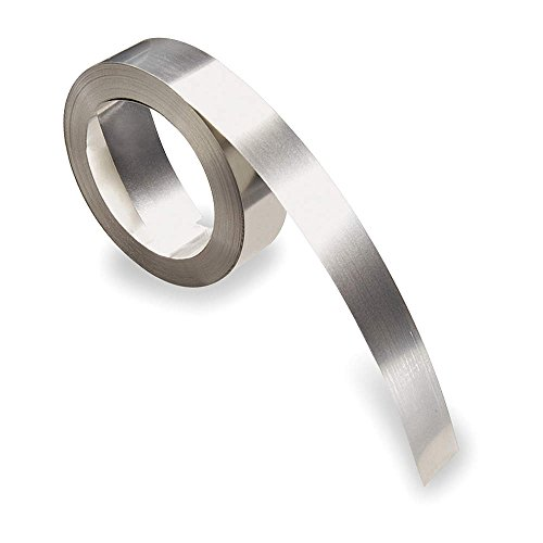 Metallic Silver 304 Stainless Steel Label Tape Roll, Indoor/Outdoor Label Type, 21 ft. Length, 1/2&q - 1 Each